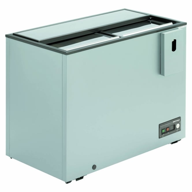 Arcaboa ALFA1100 - Alfa Range Sliding Top Bottle Cooler Grey Sliding Lid