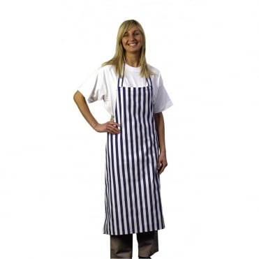 Bib Apron Black & White Stripe