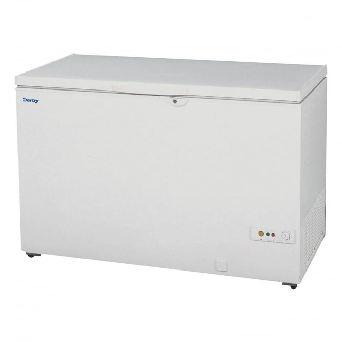 Derby F48 - Solid Lid Chest Freezer White