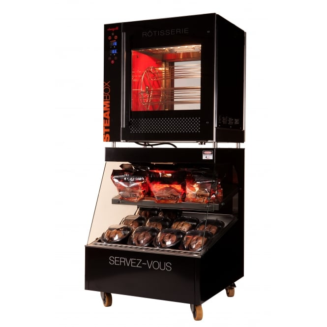 Doregrill NEOBOX Electric Basket Rotisserie & Heated Display Case