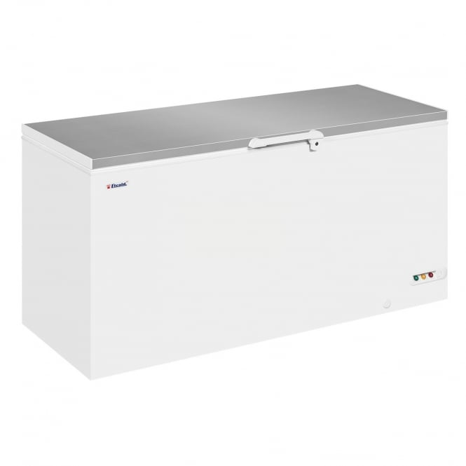 Elcold EL61SS - Solid Lid Chest Freezer White SS Lid