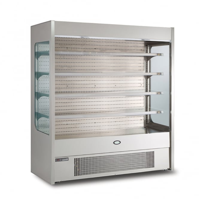 Foster FMPRO1800NG 1800mm Pro multideck with nightblind and glass end panels