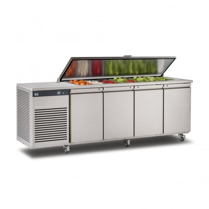 Foster EP1/4H EcoPro G2 1/4 Refrigerated Counter with Saladette Cut Out & Lockable Cover