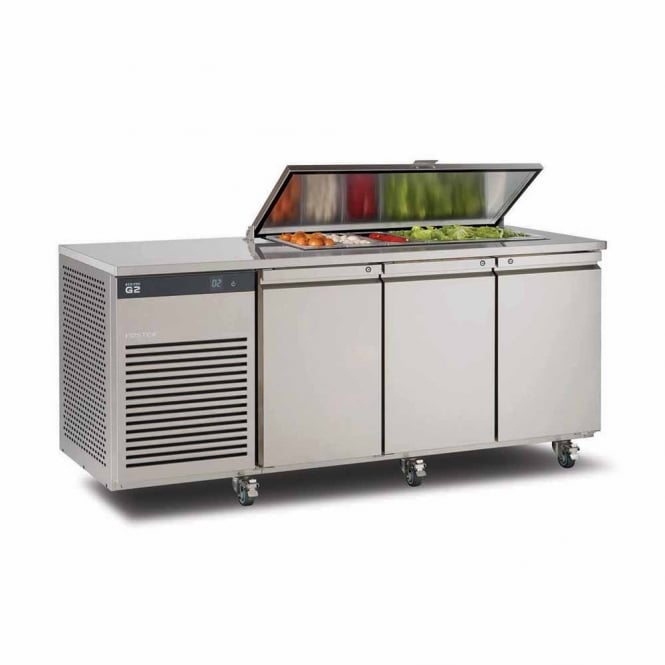Foster EP2/3H EcoPro G2 2/3 Refrigerated Counter with Saladette Cut Out & Lockable Cover