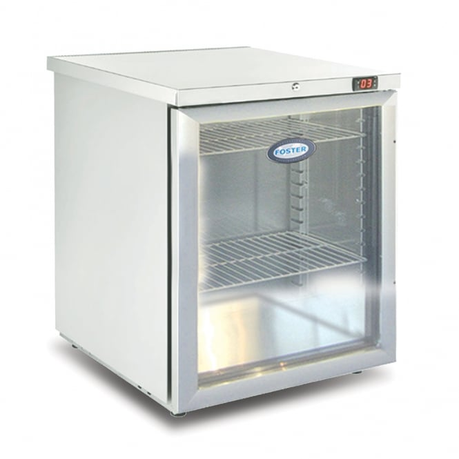 Foster HR150 Refrigerated Undercounter Cabinet with Glass Door & Light