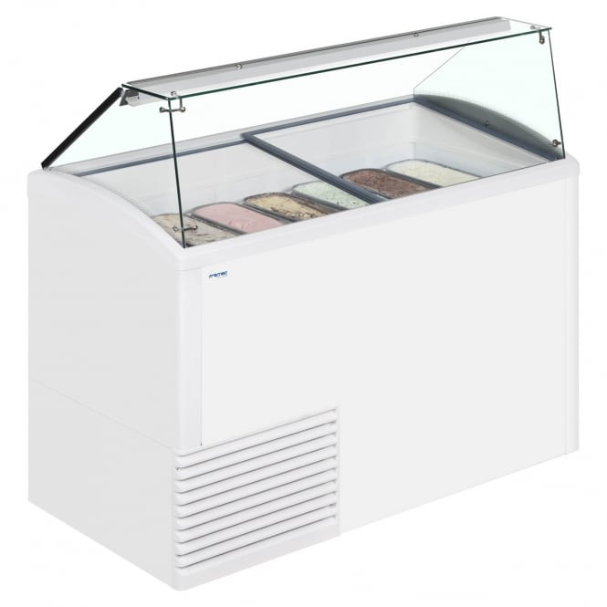 Framec SLANT510 - Slant 510 Scoop Ice Cream Display White - 10 Pan