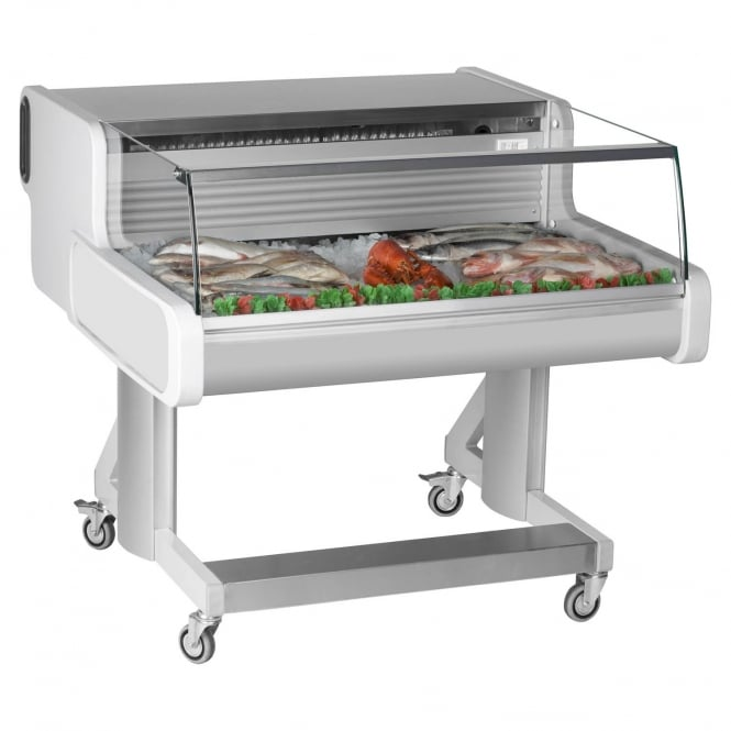 Frilixa CEL10 FISH - Celebrity Fish Range Mobile Fish/Meat Serve Over Counter White Low Glass