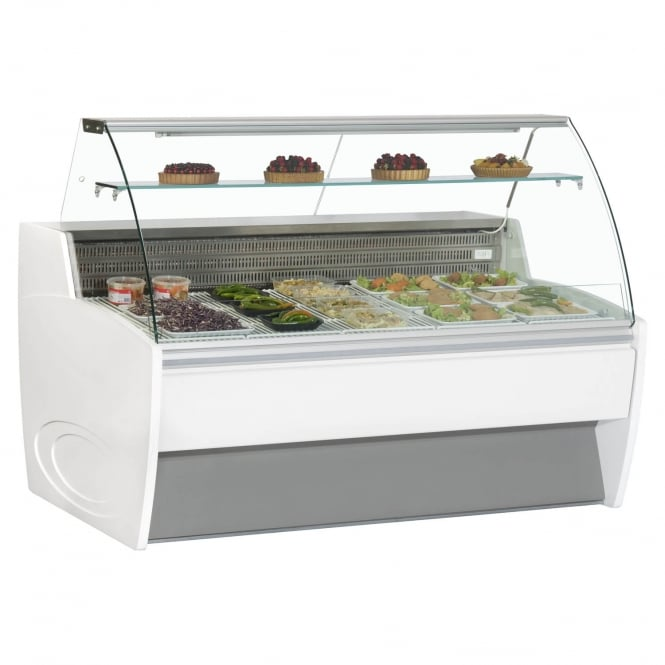 Frilixa MAXIME 15C - Maxime Curved Range Serve Over Counter White Curved Glass