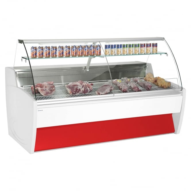 Frilixa MAXIME 20C MEAT - Maxime Meat Curved Meat Serve Over Counter White Curved Glass