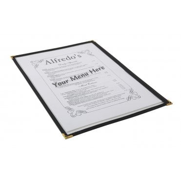 American Style Clear Menu Holder - A4 1 Page