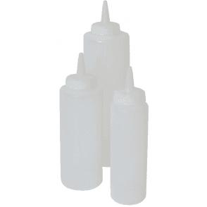 Sunnex Clear Sauce Bottles 8oz 6 Pack