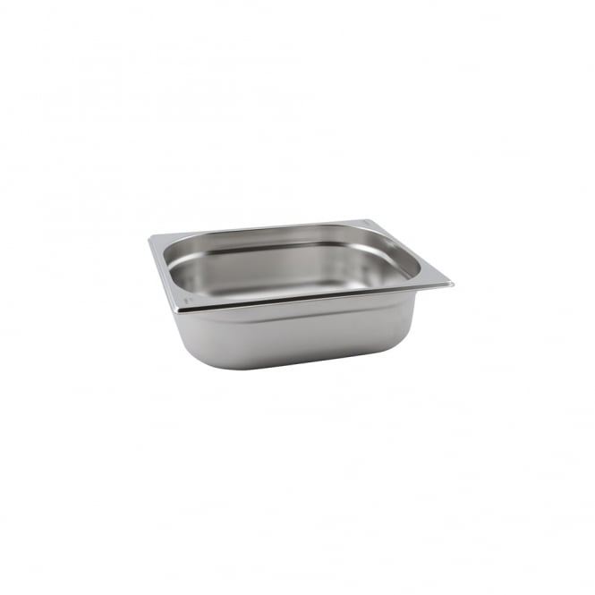 Genware Stainless Steel Gastronorm Pan 1/2 - 100mm deep