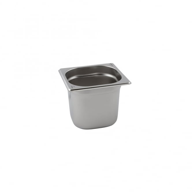 Genware Stainless Steel Gastronorm Pan 1/6 - 100mm deep