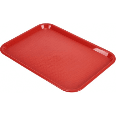 "Tray Cafe 10"" x 14"" Red"