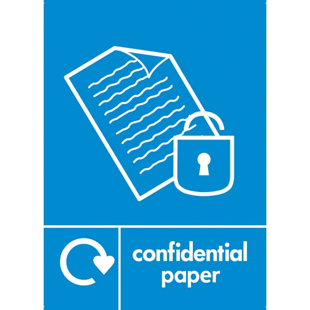 HCE Confidential Paper Label (Blue)