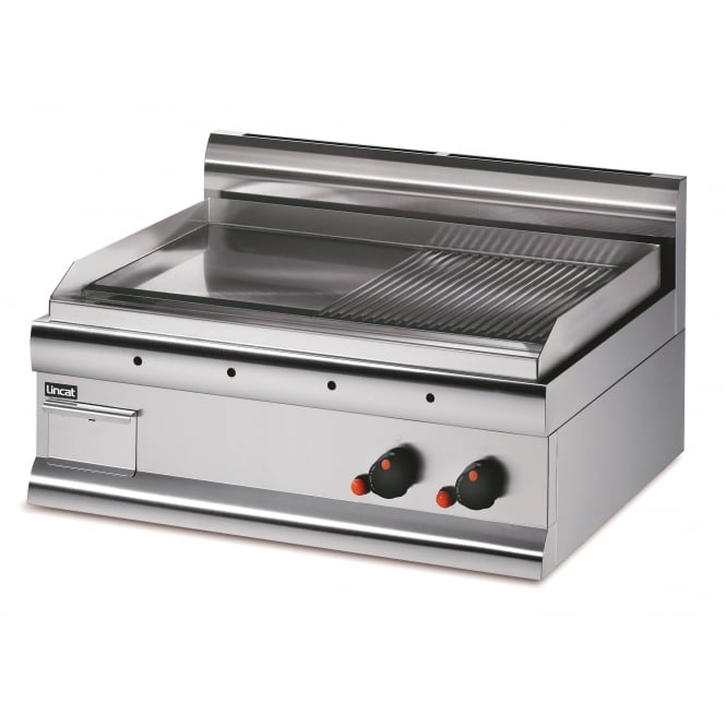 Lincat GS7R/P Silverlink 600 Griddle Steel Plate - Half-Ribbed - Dual Zone