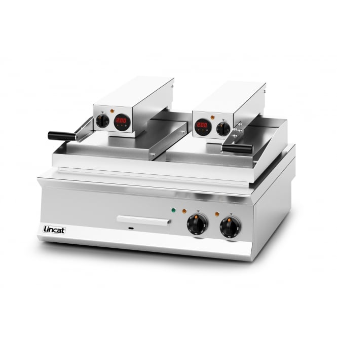 Lincat OE8210/FR Opus 800 Clam griddle 1 x Flat Upper, 1 x Ribbed Upper Plate electric 17.2kw