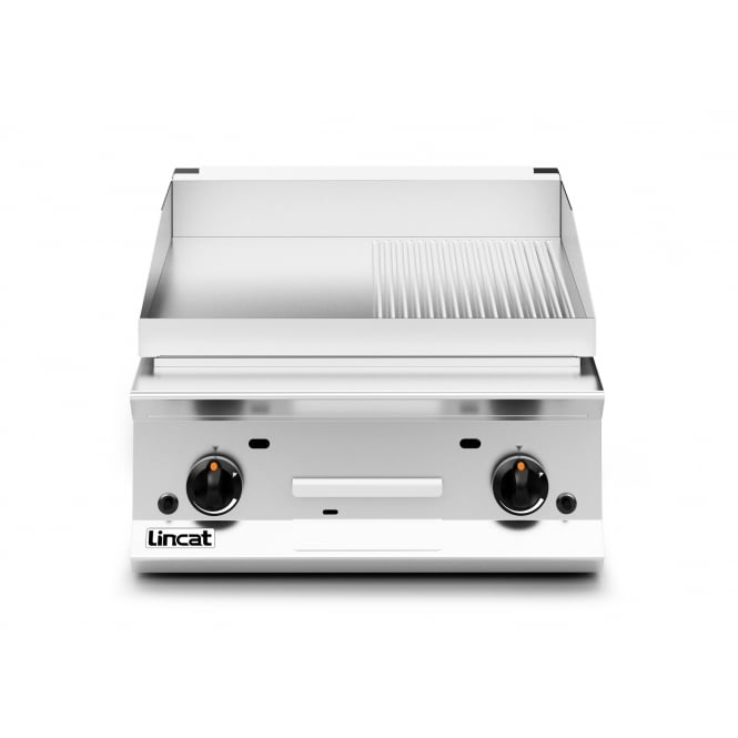Lincat OG8201/R/N Opus 800 Griddle ribbed plate Half Ribbed Plate - Dual Zone gas 15.5kw