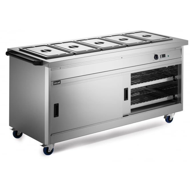 Lincat P8B5PT Panther 800 Series Hot Cupboard - Bain Marie Top Pass Through Model