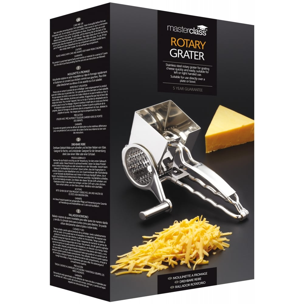 Master Class Deluxe Stainless Steel Rotary Cheese Grater