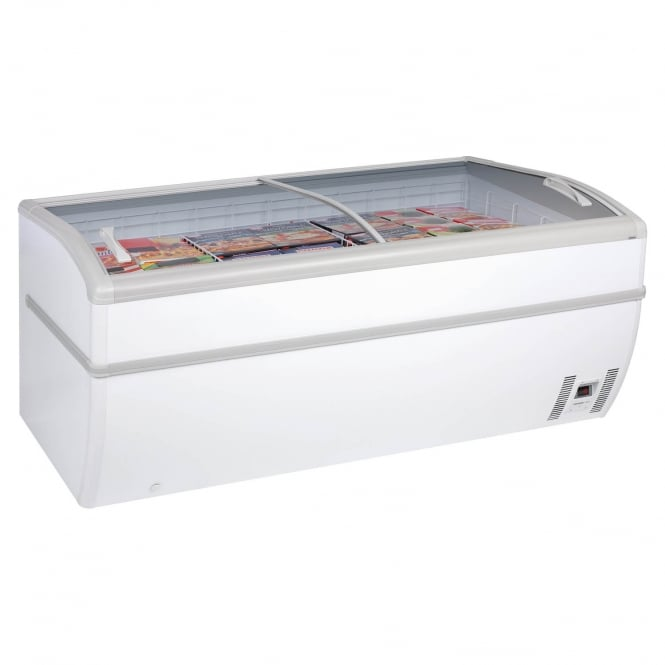 Arcaboa PANORAMICA 2 - Panoramica Range High Vision Freezer White Manual Defrost