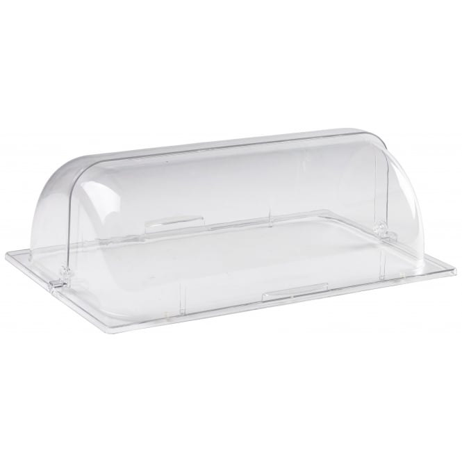 Genware Polycarbonate GN 1/1 Roll Top Cover
