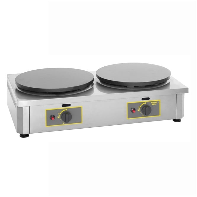 Rollergrill 400GDG Double Gas Crepe Griddle