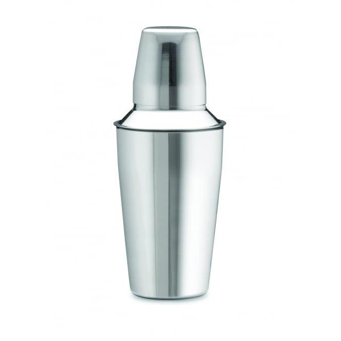Tablecraft Bar Shaker 3-Piece , Stainless Steel, 9.5cm dia x 17cm (25cm Overall height), 830ml