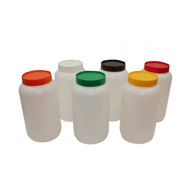 Tablecraft PourMaster Backups Half Gallon, Assorted 2 of ea colour (Brown, Green, Red, White, Orange, Yellow), , 2L, 6 pack