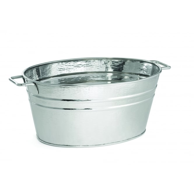 Tablecraft Remmington Collection Beverage Tub, Oval, Stainless Steel, 57x34x23cm, 38L