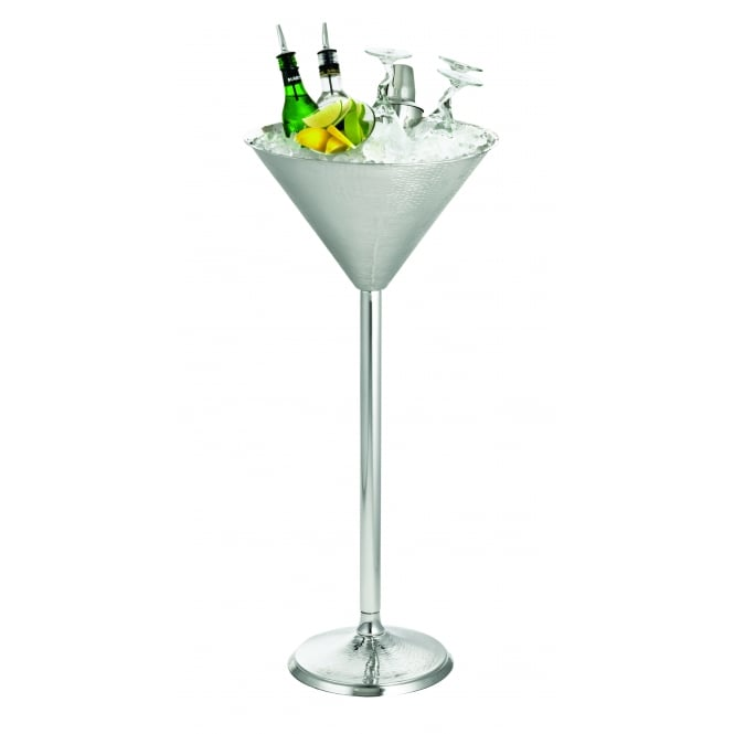 Tablecraft Remmington Collection Martini Glass Beverage Stand, Stainless Steel, 37x82.5cm