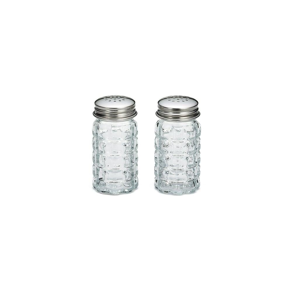 Tablecraft Salt Pepper Shaker Nostalgia Glass Stainless Steel