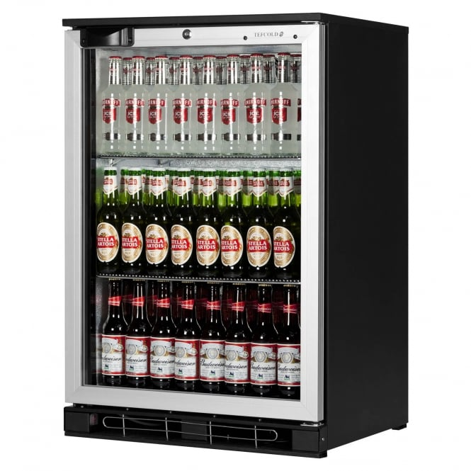 Tefcold BA10H AL - BA10 Range Back Bar Silver Hinged Door
