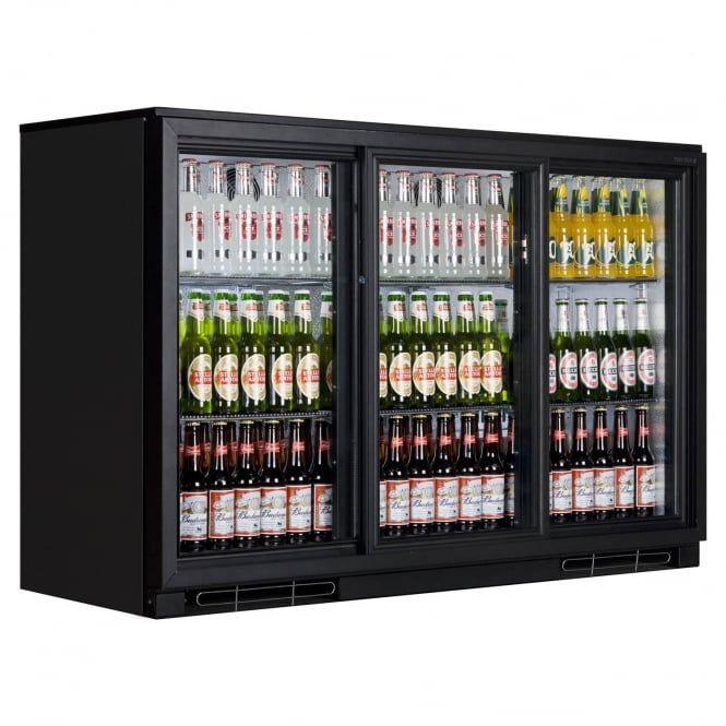Tefcold BA30S - BA30S Range Back Bar Black Sliding Door