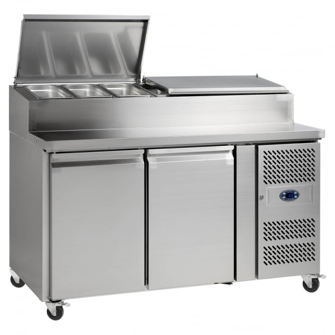 Tefcold Gastro-Line SS7200 - Gastronorm Preparation Counter SS 2 Door
