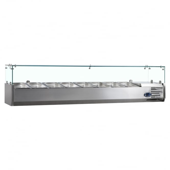 Tefcold Gastro-Line VK33-180 - VK33 Range Gastronorm Topping Shelf SS - 8 Pan