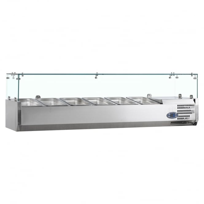 Tefcold Gastro-Line VK38-150 - Gastronorm Topping Shelf Stainless Steel