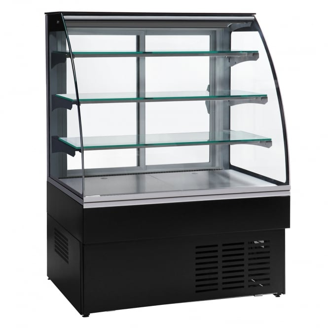 Trimco ZURICH II 100 CHOC - Zurich II Chocolate Range Chocolate Display Cabinet Black