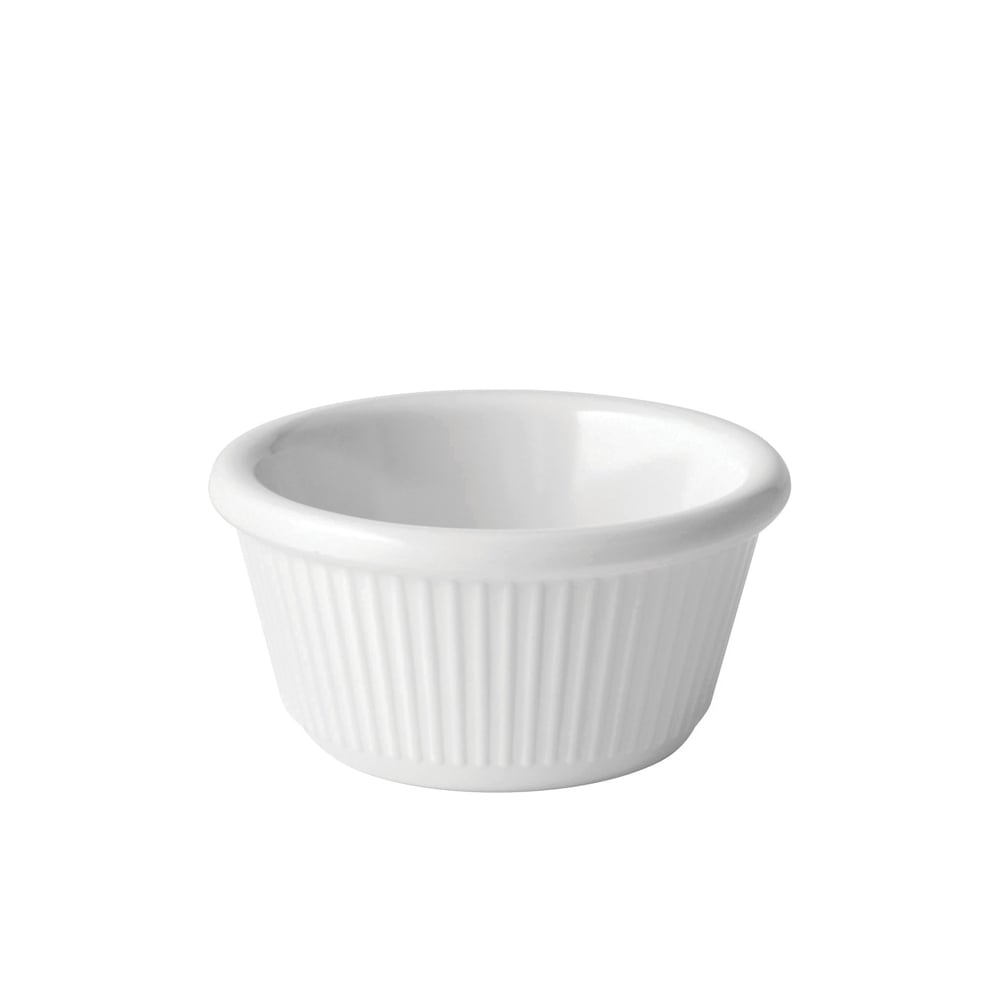 9cl JMP211-000000-B01012 Utopia Melamine Ramekins Box of 12 Fluted White Ramekin 3oz